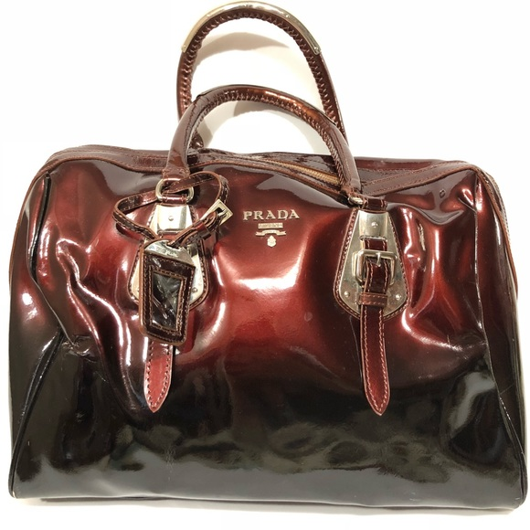 ef62c7028b8 Prada Patent Leather Oxblood Extra Large Satchel. M 5a8339972ae12f9b7861e7c7